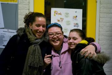 Op de foto met onze vrijwilligers